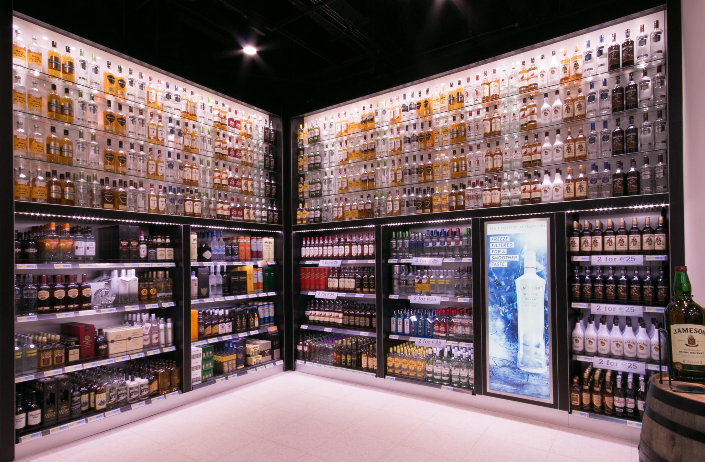 Liquor Area - Shannon Duty Free